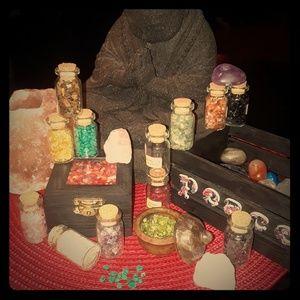 PERIDOT ROCKS Heart Chakra healing stones mini jar